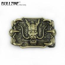 Bullzine модный пояс с пряжкой в виде головы дракона Ретро ковбойские джинсы Подарочный ремень пряжка FP-03717 для 4 см ширина пояс дропшиппинг