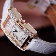 2017 New Women Rectangle Watches Ladies Rose Gold Wristwatch Female Clock Girl Quartz Wrist Watch Quartz-watch Relogio Feminino