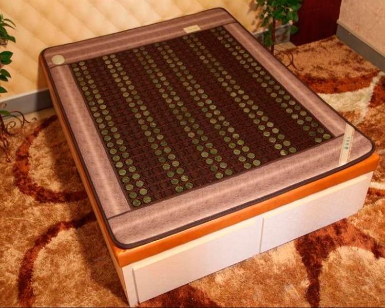 2016 Health Care Jade Mattress Tourmaline Jade Mattress Far Infrared Heated Bed Mattress Pad 1.5X1.9M Free Shipping free shipping for heated mattress health mattress jade heated mattress far infrared health care mattress size 1 0x1 9m