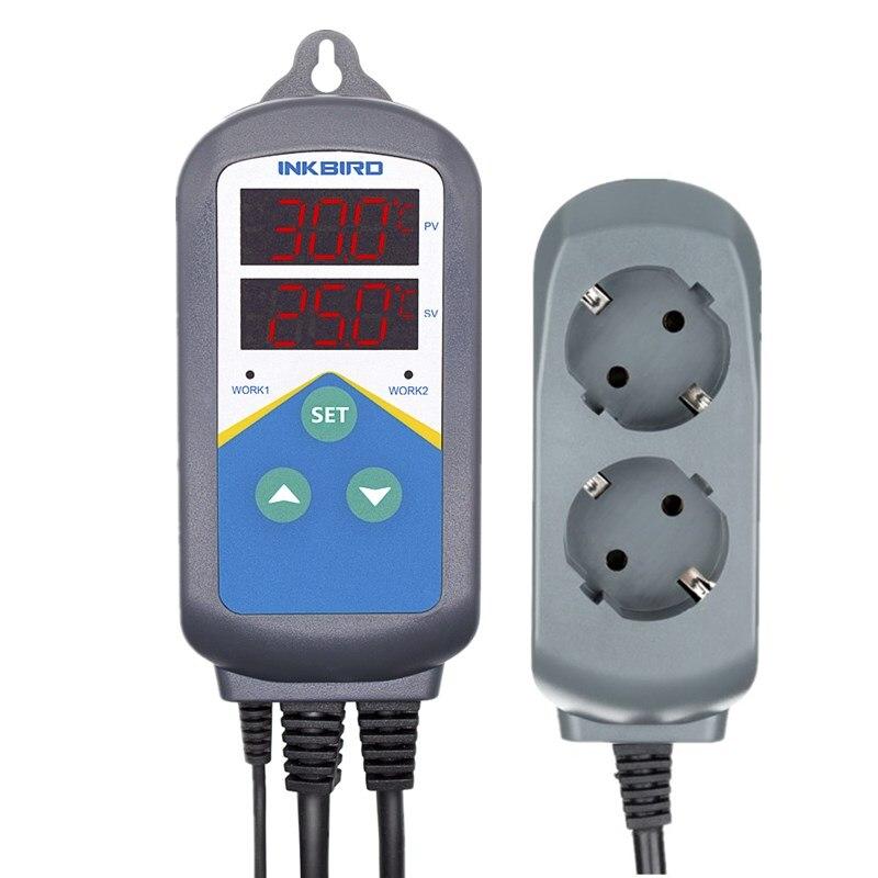 Numérique Thermomètre ITC-306T UE Socket Thermomètre et Minuterie Outils Pour Four Appareils Ménagers À Couver La Germination Des Graines Reptiles
