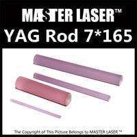 Good Quality Laser Welding Machine 1064nm nd: Yag Rod 7mm Dia 165mm Length nd: Yag Laser Rod