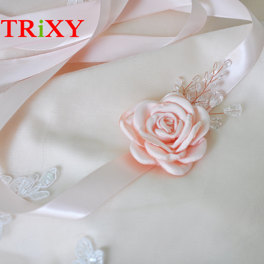Beautiful Flowers For Weddings: TRiXY S340 Charming Flowers Wedding Belts Real Samples