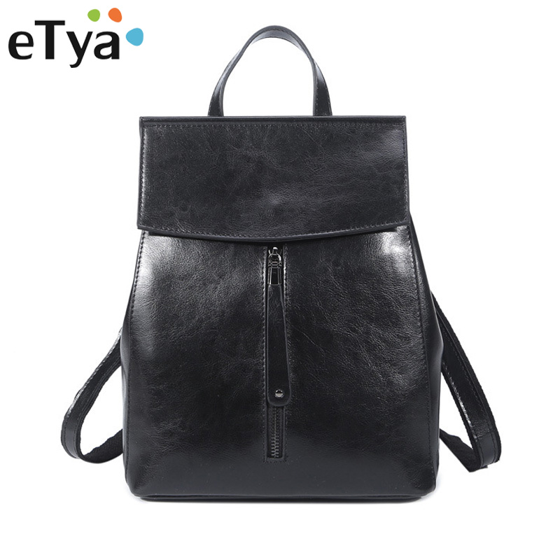 Women Backpack High Quality Genuine Leather Preppy Style School Backpacks For Teenage Girls Simple Casual Female Shoulder bag brand bag backpack female genuine leather travel bag women shoulder daypacks hgih quality casual school bags for girl backpacks