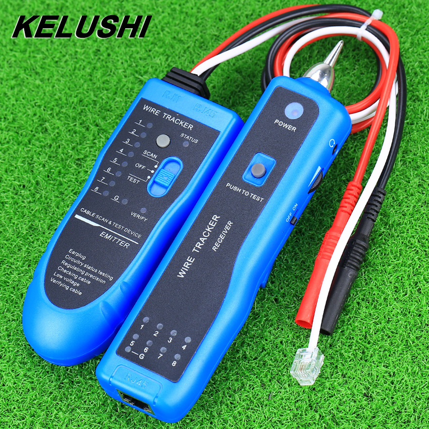 KELUSHI Cable Length Tester NF-889 Multipurpose Digital Cable Tracker for Length Tester Fiber Tracker kelushi nf 866 phone line cable tester telephone fiber optical tool check phone dtmf caller id auto detection search machine