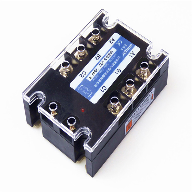 Three-Phase Solid State Relay DC Control AC 380V 40A MGR-3 032 3840Z DC-AC high quality ac ac 80 250v 24 380v 60a 4 screw terminal 1 phase solid state relay w heatsink