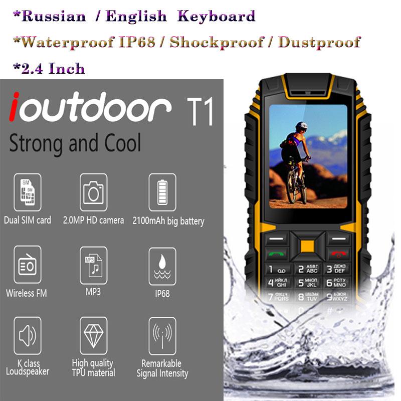 Free ShipτXGODY Ioutdoor T1 2G GSM New Back-Camera Feature-Phone Celular Shockproof Fm-Telefonß