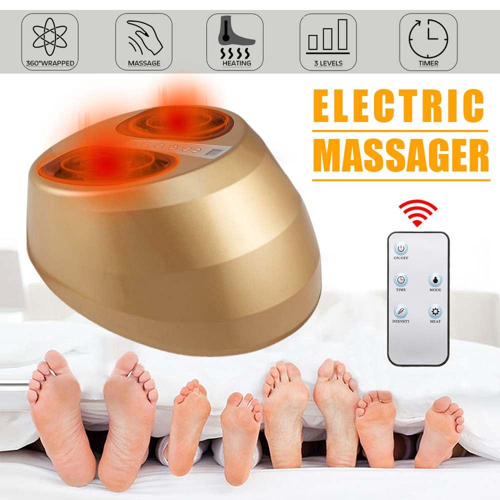 Appareil électrique de massage des pieds Machine de relaxation plantaire télécommande 3 niveaux ajuster les procédures de physiothérapie automatique des pieds