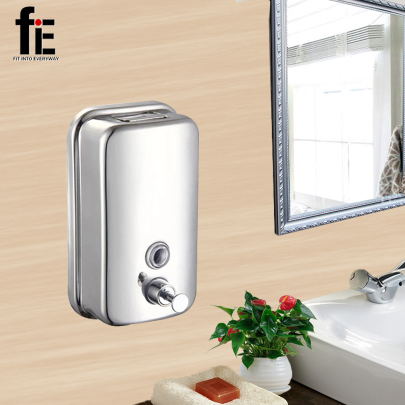 fiE Wall-Mounted Liquid Soap Dispenser Wall Hotel Head Distribute Shampoo Bathroom Kitchen Dispenser цена
