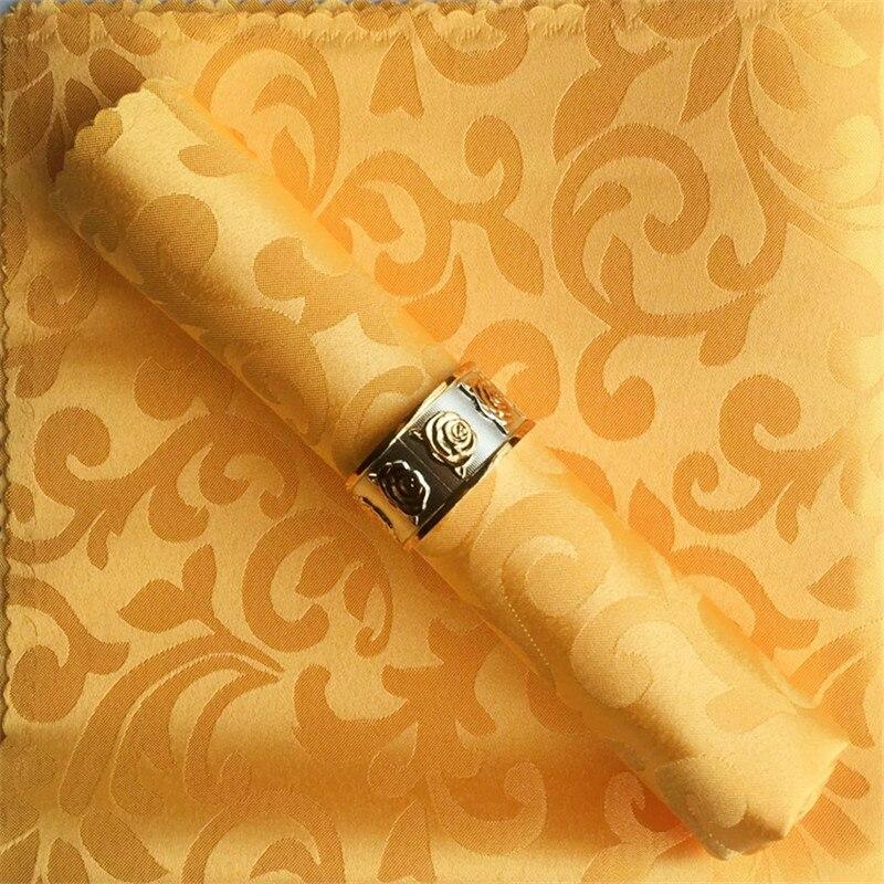 10 pcs/lot wedding napkins cotton jacquard modern hotel event table decoration white wedding napkins cloth napkins
