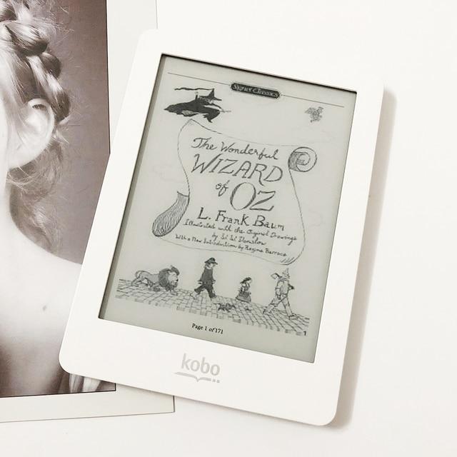 Lector de libros electrónicos Kobo glo N613 Touch e-ink 6 pulgadas 1024x768 2 GB frontal-luz WiFi eReader