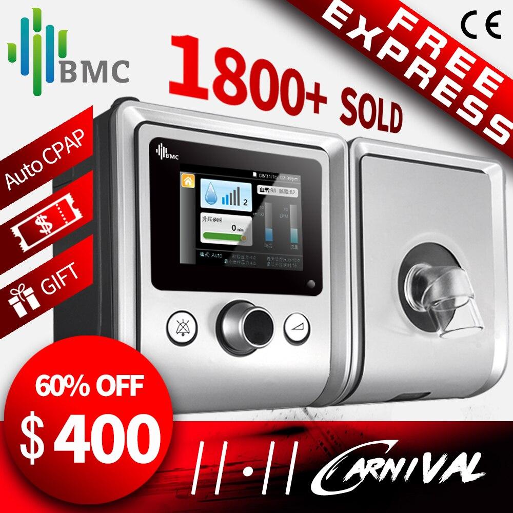 BMC GII Auto CPAP Machine E-20A Matériel Médical pour L'apnée Du Sommeil OSA vibrateur Anti Ronflement Ventilateur avec Humidificateur CPAP Masque