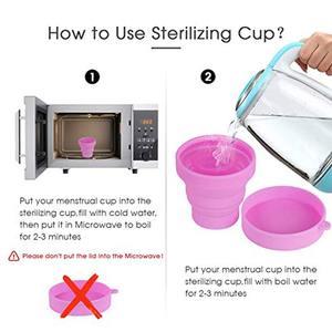 Image 5 - 25pcs esterilizador copa menstrual aneercare menstrual cup sterilizer folding cup copa menstrual de silicona medica