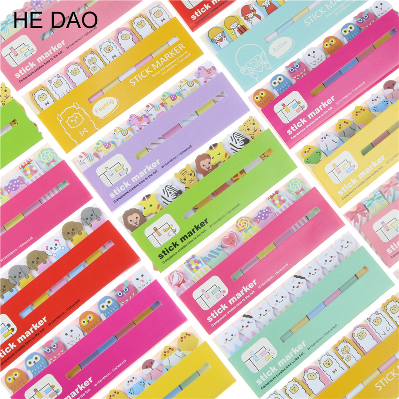 1 PC Kawaii Cartoon Memo Pad Sticky Notes Memo Notebook Stationery Papelaria Escolar School Supplies 3 pcs candy colors sticky notes color smile memo pad post it note paper sticker stationery papelaria material school supplies
