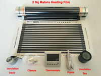 2 Square Meters Infrared Heating Film 50 Cm 4 M With Thermostats 5 Pieces Clamps Insulating