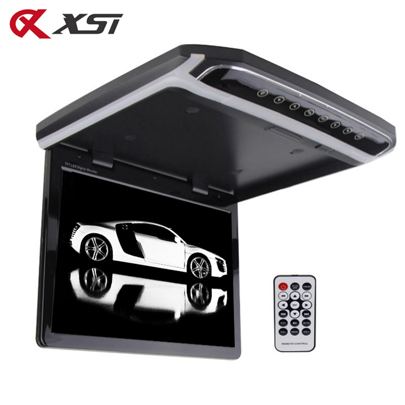 XST 10 2 Inch Car Roof Mount Monitor Flip Down TFT LCD Player Support 1080P FM