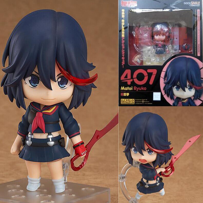 with box  KILL la KILL figure Matoi Ryuuko #407 Nendoroid PVC Action Figures Toy Model 4