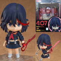 "Con caja KILL la KILL figura Matoi Ryuuko #407 Nendoroid PVC figuras de acción juguete modelo 4 ""10 cm"