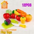 Minitudou 12PCS Food Miniature Plastic Fruit Toys Kitchen For Children Play Kitchen Set