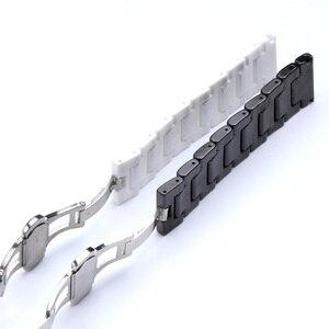 Image 5 - 12/14/16/18/20/22mm Shine voor Samsung Gear S2/S3 Horlogeband kwaliteit Keramische Horloge Band Luxe Metalen Armband voor Huawei Horloge 2