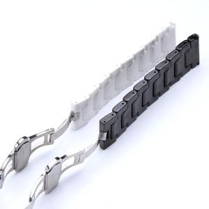 Image 5 - Ремешок для часов Samsung Gear S2/S3, 12/14/16/18/20/22 мм, качественный керамический ремешок для часов, роскошный металлический браслет для Huawei Watch 2