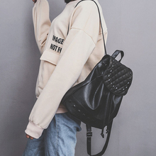 Fashion Backpack Rivet New Travel Bag Pu Backpack For Women School Student Teenage Girl Mochila Escolar Women Backpack Rucksack