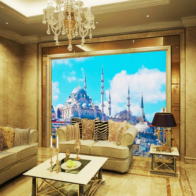 Wallpaper For Walls 3 D Beautiful Scenery Ic Church Living Room Hotel Balcony Decorative Custom Murals