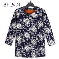 BFDADI Plus Size T Shirt Women Long Sleeve Keep warm Inside plush T Shirt Casual Autumn and Winter New 2017 Tops 124 1 4XL 6XL