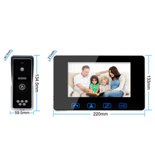 Wired Video Door Phone 7″Color LCD With Waterproof Digital Doorbell Camera Viewer IR  Night Vision Intercom System