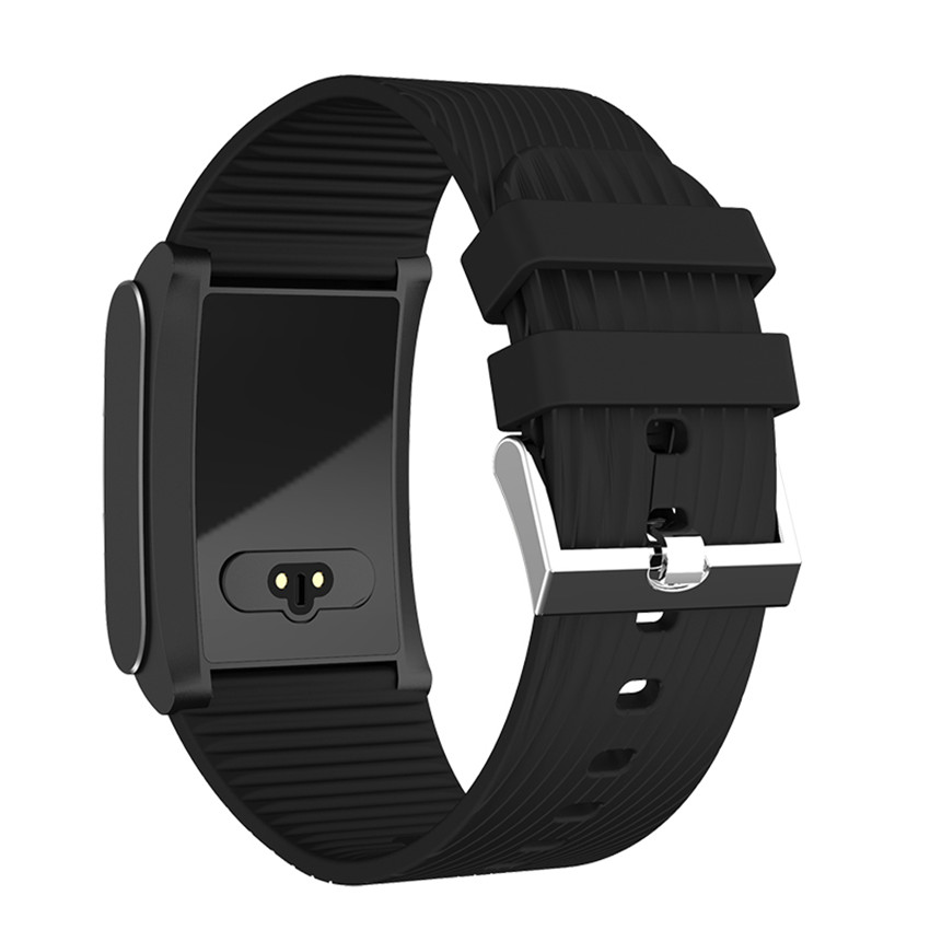 712892f47bb Cor do Metal Inteligente Relógio Do Esporte da Frequência Cardíaca Monitor  de Pressão Arterial Montre Ligar Para A Apple Xiaomi Sony Smartwatch ...