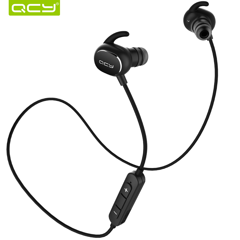QCY sports earphones IPX4-rated sweatproof earbuds bluetooth wireless stereo headset support aptx hifi with mic QY19