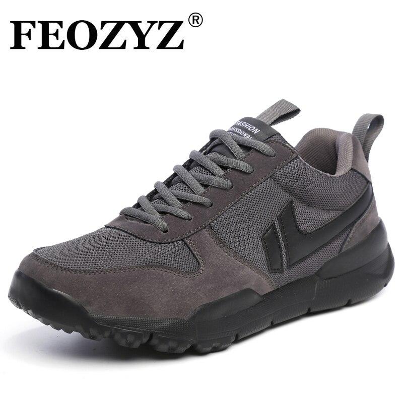 Feozyz 2018 новые дышащие Кроссовки легкий Спортивная обувь Для мужчин удобная спортивная Для мужчин S Обувь Большие размеры 39-47 бег Обувь ...