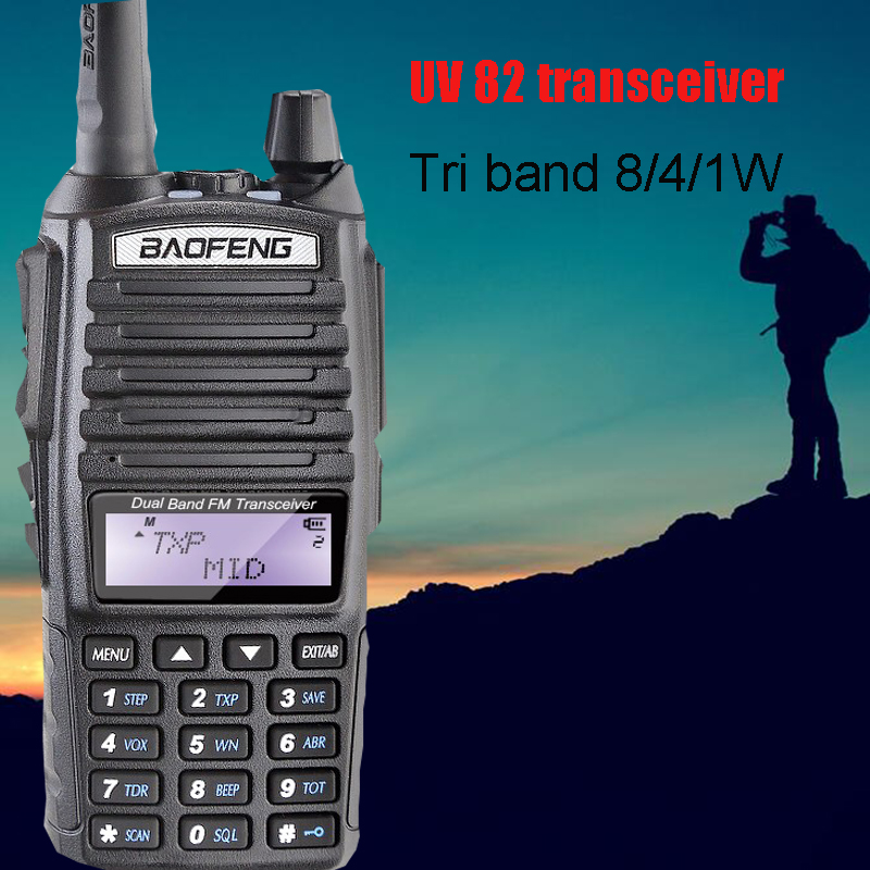 BaoFeng UV 82HP black High Power Dual Band Radio 136 174mhz VHF 400 520mhz UHF Amateur