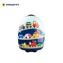 Детский чемодан на колесах PROFFI TRAVEL PH8832 с принтом «Авто» пластиковый, размер XS (45х29х21см)