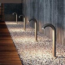 Thrisdar 2 шт. 60 см открытый садовый столб светильник водонепроницаемый изгиб кран Точечный светильник пейзаж Дорога Путь столбик лампы