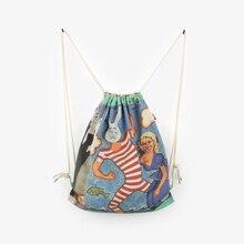 Новая мода рюкзак 3D печать путешествия softback мужчина женщины harajuku drawstring сумка мужские рюкзаки мышц кролика сумка