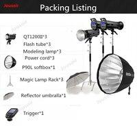 Godox фотостудия флэш набор стробоскопов быстрее 1200WII второе поколение флэш глубокий рот softbox высокоскоростной CD50 T03
