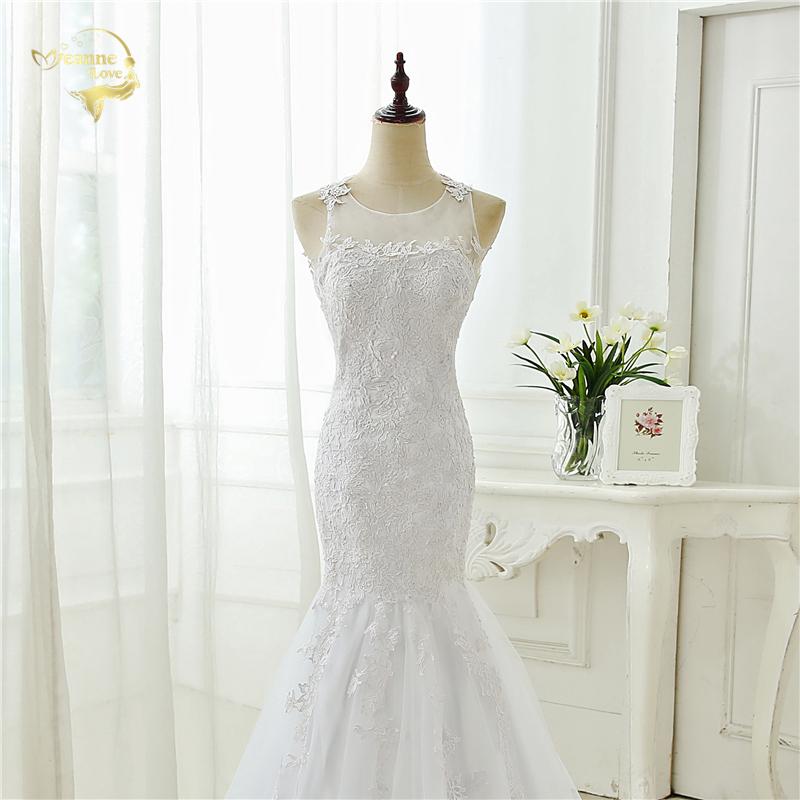 Vintage Appliques Backless Lace Mermaid Wedding Dress
