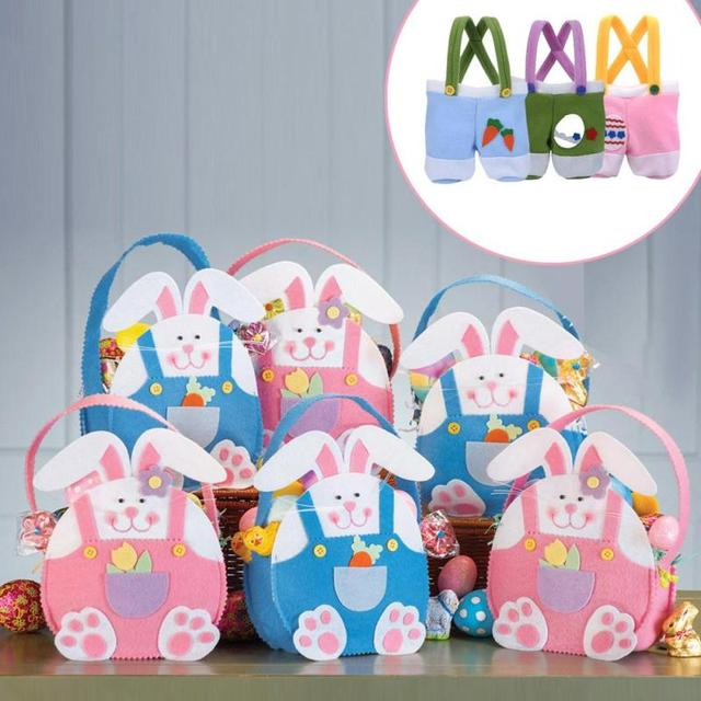 Creative bunny ear easter gift bag for easter party decorations creative bunny ear easter gift bag for easter party decorations rabbit candy bag baskets egg kids negle Gallery
