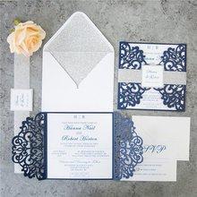CA0688 Free Shipping Vintage Laser Cutting Wedding Invitations
