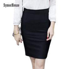 fd9f426bd0f72 High stretch Pencil Skirts Women Plus Size Open Slit Elegant Ladies Office  Skirt Casual Ol Slim