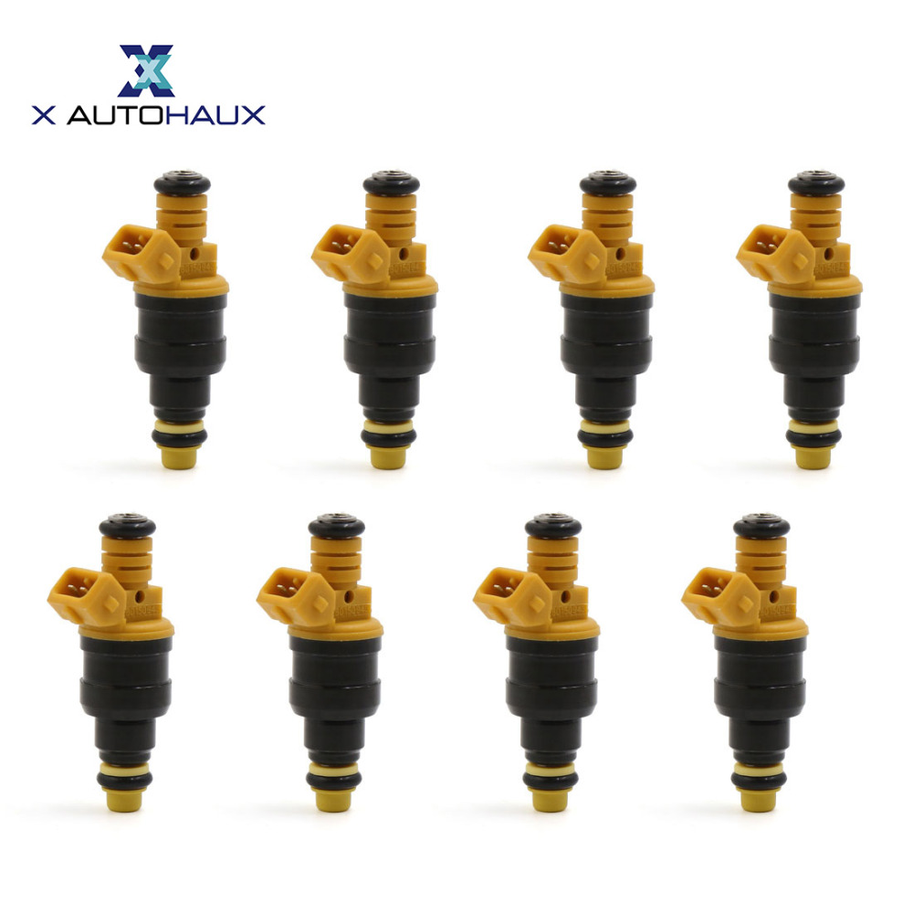 X AUTOHAUX Wholesale 8pcs 215cc 4 Holes CM5041 FJ713 0280150909 Fuel Injectors for Ford 4 6