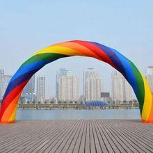 20ft* 12ft D = 6 м надувные Радуга арка для рекламы с вентилятором 220 В Высокое Качество NE