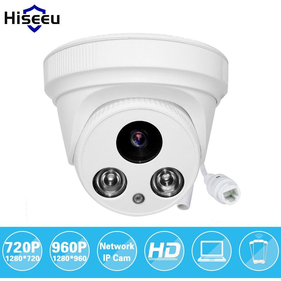 bilder für Hiseeu 720 p 960 p 1.0mp 1.3mp cctv ip-netzwerk-kamera familie mini Dome Sicherheit ONVIF indoor IR Nachtsicht P2P Remote HCR6