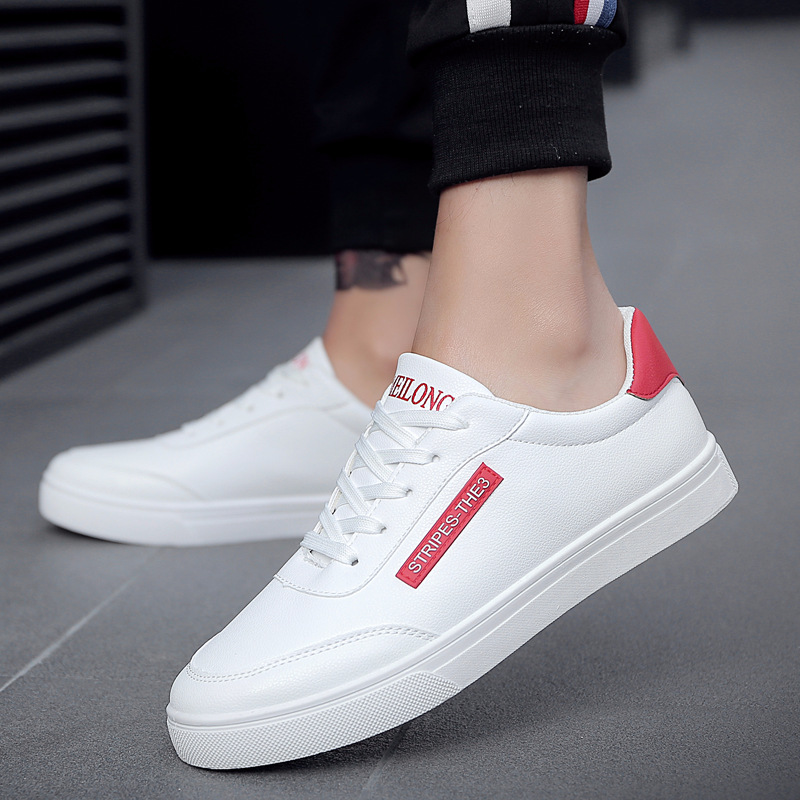 2018 New White Fashion Shoes Men Casual Lace-up Shoes tenis masculino adulto Comfortable Male Walking Shoes 5