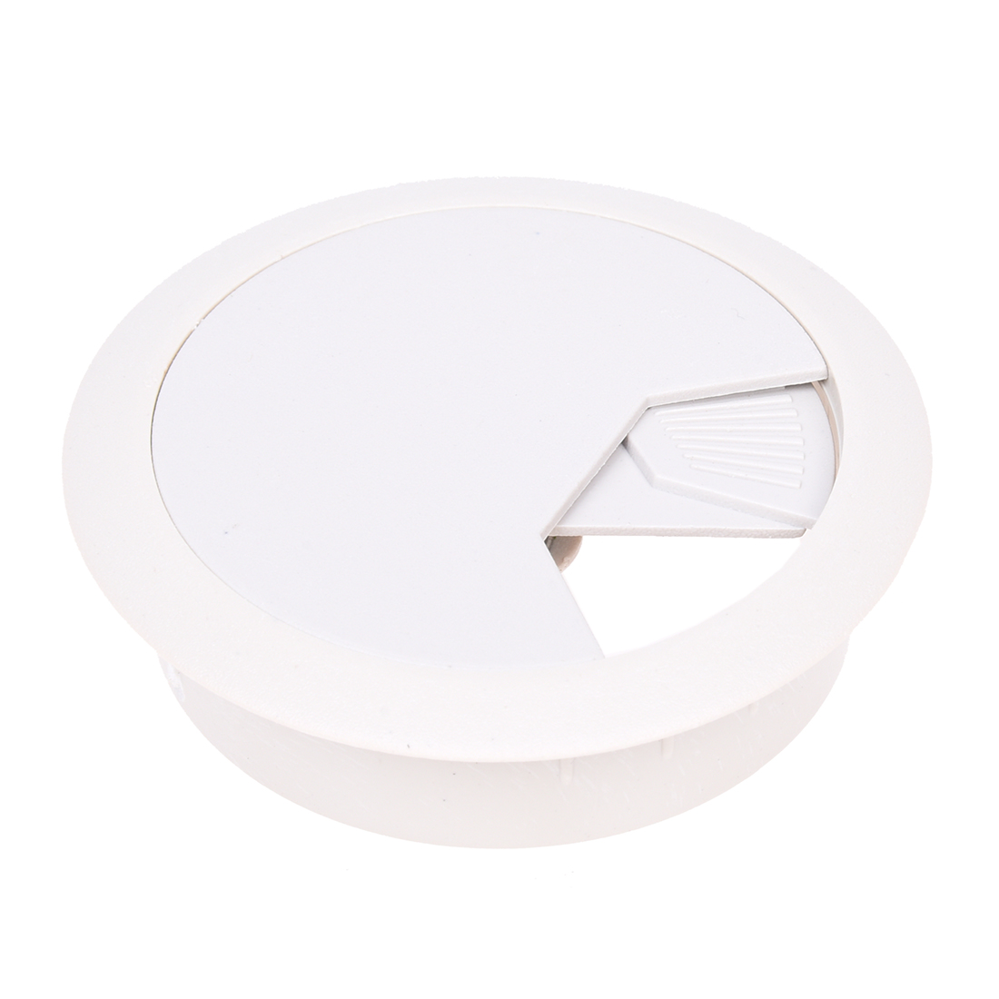 PC Desk Gray Plastic 50mm Diameter Grommet Cable Hole Cover 10 Pcs legare straight desk gray driftwood
