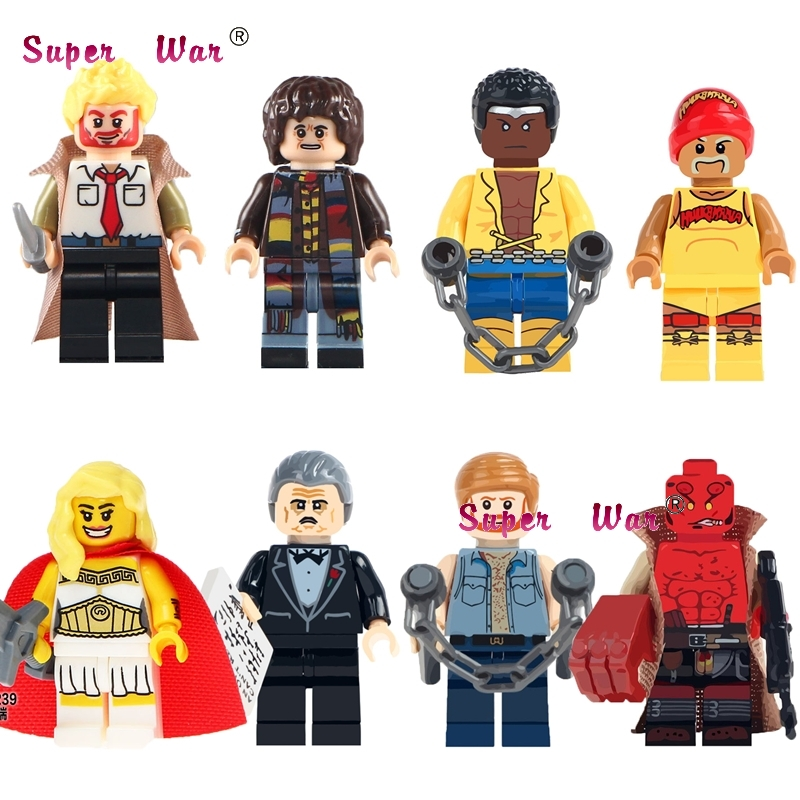 50pcs Classic Movie Constantine Doctor Who She Ra HellBoy building blocks bricks friends hobby toys for