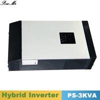 3000VA 2400 Вт чистая синусоида инвертор гибридных инвертор 24VDC Вход 220VAC Выход с ШИМ Солнечный Зарядное устройство контроллер