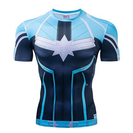 Мстители эндгейм футболка Квантовая царство компрессионная с коротким рукавом для мужчин тренажерный зал Спорт Фитнес окрашенные футболки спортивная одежда для мужчин - Цвет: DX-054