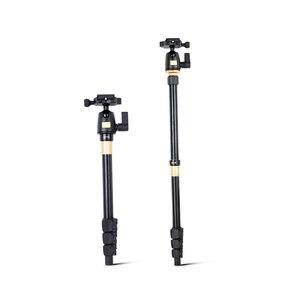 Image 3 - QZSD Q555 Aluminium Alloy Camera Tripod  Video Monopod Professional Extendable Tripod with Quick Release Plate and Ball Head