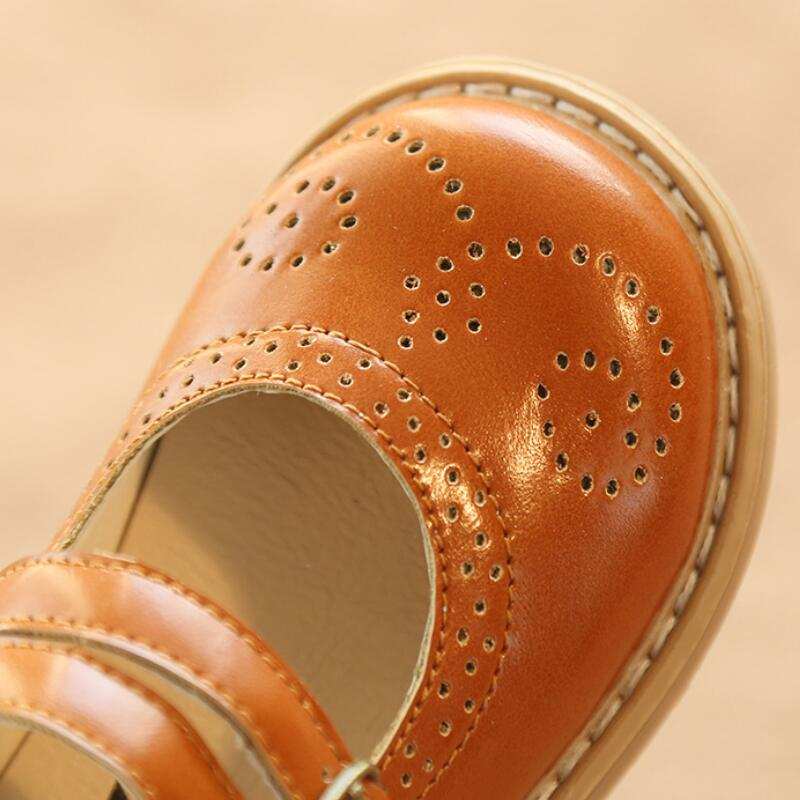 SKHEK New Summer Style Children Sandals for Girls Hollow Out soft Leather Princess Shoes Kids Beach Sandals Baby Toddler Shoes in Leather Shoes from Mother Kids